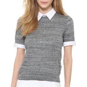 Alice + Olivia Employed Collared Sweater, S